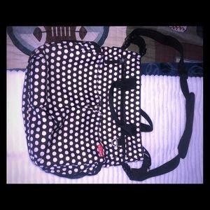 Like new Skip Hop polka dot diaper bag